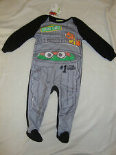 "SESAME STREET OSCAR FLEECE  ROMPER NWTS "" #1 LITTLE STINKER"""