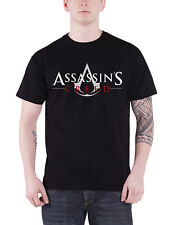 Assassins Creed T Shirt classic Logo gaming PS4 Xbox new Official Mens Black