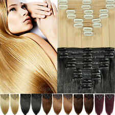 Glorious Full Head Clip in Remy Human Hair Extensions Thick Double Weft US BS300