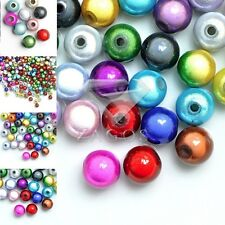 10/20/40/80/120pcs Acrylic Round Miracle Beads Jewelry Multi-Color 4/6/8/10/12mm