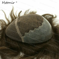 3# 5# Men Toupee Hairpiece Swiss Lace and PU Hair Replacement Natural Looking