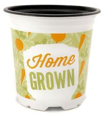 Nutley's 9cm Modiform Home Grown Patterned Plant Pots Grow Your Own
