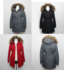 New Abercrombie & Fitch Womens Hooded Arctic Parka Jacket Coat Outerwear Puffer