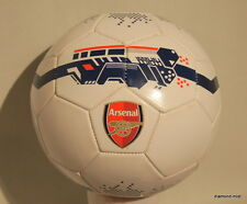 ARSENAL FC OFFICIAL SIZE 5 BALL GENESIS FOOTBALL RED & WHITE