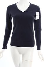 TOMMY HILFIGER Knitted Sweater dark blue athletic style Women's Size UK 10