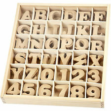 10 Wooden letters & numbers of your choice - 4cm high