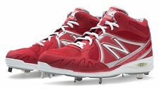 New Balance Mens Baseball 3000 Mid Cut Cleat Shoes Red