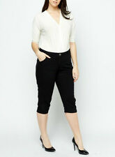 BNWT*NEW*NEXT*LADIES*XXL*SIZE*18**STRAIGHT*LEG*3/4*LENGTH*BLACK*TROUSERS