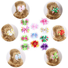 Baby Girls Butterfly Ribbon Hairclips Hairpins Children Fashion Hair Accessories