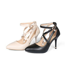 AU All Size Women Shoes Synthetic Leather Strap Thin High Heel Lady Sandals