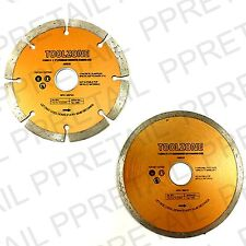 """SEGMENTED/CONTINUOUS RIM DIAMOND DISC 115MM/4""""  Angle Grinder Blade Cutting NEW"""