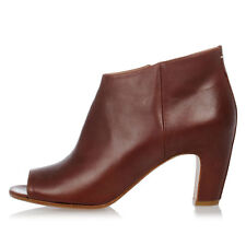 MARTIN MARGIELA MM22 New Woman Brown Leather Ankle Boots Shoes Made in Italy