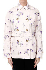 VALENTINO RED new Woman Light Pink Floral printed JAcket Trench NWT