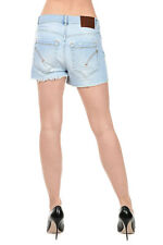 DONDUP New woman Blue JEANS DENIM STRETCH Cotton Pants Shorts Made in Italy