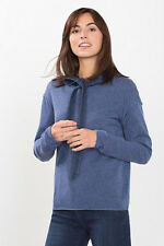 NEW Esprit Womens Cashmere blend jumper + inside-out seams DARK BLUE 5
