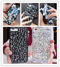 Bling Girly Rhinestones Glitter Tassel Back Case Crystal Heart Cover For Phones