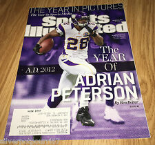 Deember 24, 2012 issue of Sports Illustrated Adrian Peterson  #245