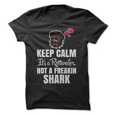 It's A Rottweiler Not A Shark - Funny T-Shirt 100% Cotton Dog Humor Pet