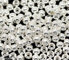 Wholesale Lots HX Silver Plated Smooth Round Spacers Beads 3mm