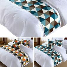 Newest Bed Runner Soft Pillowcase Fashion Geometric Home Hotel Bed Couch Cover