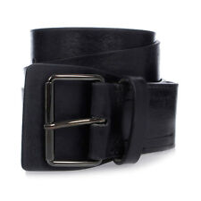 MARTIN MARGIELA MM11 New Man Leather Black Belt Made in Italy NWT