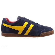 Gola Classics Harrier Navy Sun Red Mens Retro Sneakers Trainers