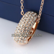 A1-P520 Fashion Rhinestone Ring Necklace Pendant 18KGP CZ Crystal