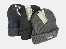 Chunky Thinsulate Thick Woolly Hat Beanie Hat for Winter etc Black Grey Blue
