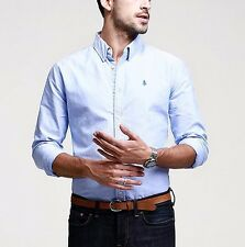 New!!! Mens Slim Long Sleeve Button Front Casual Shirt 100% Cotton M L XL XXL
