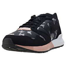 Le Coq Sportif Omega X W Social Butterfly Womens Trainers Black Pink New Shoes