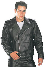 Xelement B7100 Premium Cowhide Classic Belted Leather Motorcycle Jacket