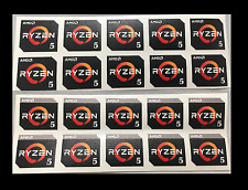 5x/10x AMD RYZEN 5 1600X/1600/1500X/1400 Case Badge Sticker Logo | USA Seller!