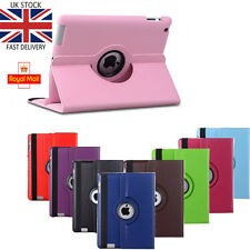 Leather 360 Degree Rotating Smart Stand Case Cover For Apple iPad 2/3/4 UK STOCK
