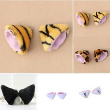 Colorful Cosplay Cat Long Fur Ears Party's Anime Neko Lovely Hair Clip Costume