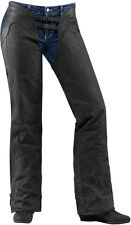 Icon 1000 Womens Black Leather Hella 1000 Motorcycle Chaps
