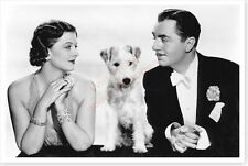 Actor William Powell And Myrna Loy & Asta Thin Man Publicity Silver Halide Photo