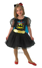 Kids Hello Kitty Superhero Batgirl Girls Fancy Dress Childs Costume Outfit