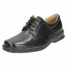 Mens Clarks Black Formal Lace Up Shoes Salute Free