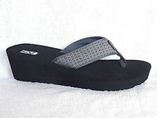 TEVA MUSH Mandalyn Wedge II Thong Sandals~ARO BROWN /Grey~Most sizes~NEW 1000938