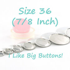 """25 Cover Buttons - Choose FLAT or WIRE - Size 36 (7/8""""/23mm) Fabric SELF COVERED"""