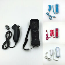 2 in 1 Remote Controller for Nintendo Wii & Case Built in Motion Plus & Nunchuck