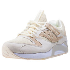 Saucony Grid 9000 Knit Pack Mens Trainers Cream New Shoes