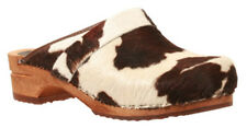 Sanita 'Brown Cow' Print Wooden Clogs (Art: 1706199)
