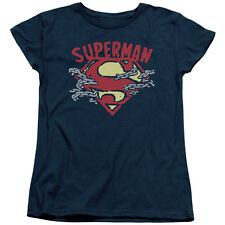 Superman CHAIN BREAKING Licensed Women's T-Shirt All Sizes