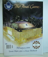 1999 Toronto Maple Leafs Vs Chicago Blackhawks, The Final Game at the Garden