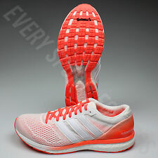 Adidas Adizero Boston 6 M AQ5990 Mens Running Shoes-White/SolarRed(NEW)List@$120