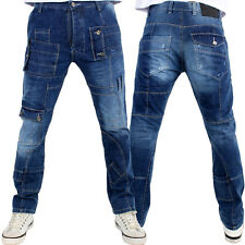 Brooklyn Mint Alfa Denim Biker Style Straight Fit Jeans SALE PRICE