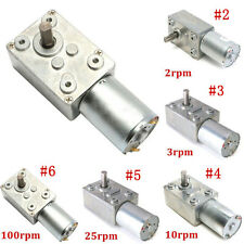 0.6RPM~120RPM Reversible High Torque Turbo Worm Geared Motor DC 12V Reduction