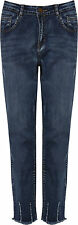 Plus Womens Denim Distressed Ankle Jeans Ladies Ripped Skinny Leg Trousers New