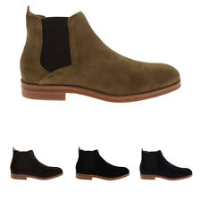 Mens H By Hudson Tonti Suede Dealer Smart Casual Chelsea Ankle Boots UK 6-12